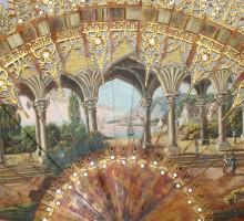 Eventail de style gothique, vers 1825
