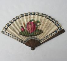 Eventail « La rose d'Amour », fin du XVIIIe siècle