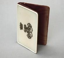 Carnet ivoire, couronne de Baron, XIXe siècle