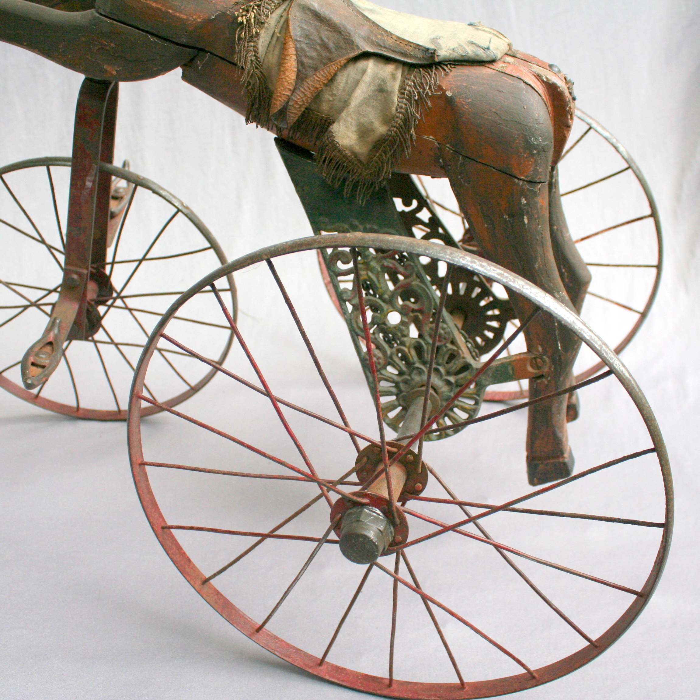 antique horse tricycle 19 th century. Black Bedroom Furniture Sets. Home Design Ideas