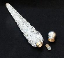 Flacon à parfum cristal, bouchon argent (3)