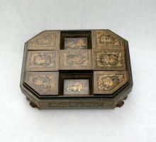 Ancienne boite à jetons chinoise laquée (2)