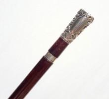 Canne épée pommeau argent (1)