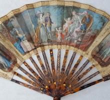 Eventail XVIIIe siècle monture écaille (2)