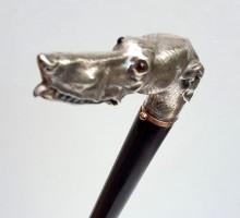 Canne chien argent (1)