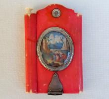 Carnet ivoire teinté rose XVIIIe (1)