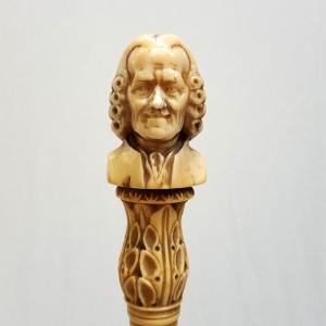 Parapluie pommeau sculpté Voltaire (1)