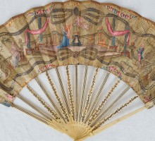 Eventail XVIIIe siècle, antique fan 18 ThC (1)
