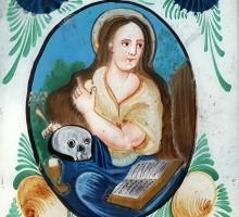 Fixé sous verre Marie Madeleine (1)