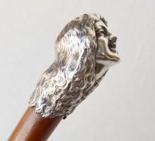 Canne pommeau femme bronze argenté (2)