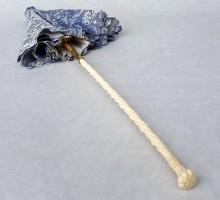 Ombrelle marquise ivoire soie bleue (5)