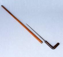 Canne-épée cane-dague poigné corne et os