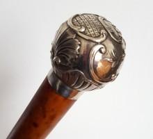 Canne Art nouveau pommeau argent (1)