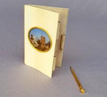 Carnet ivoire avec fixé sous verre, XIXe (1)