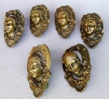 Coins et côtés de billard bronze (2)