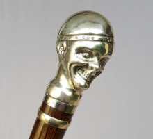 Canne Clown argent (1)