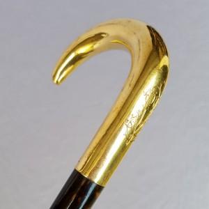 Canne pommeau or XIXe siècle (3)
