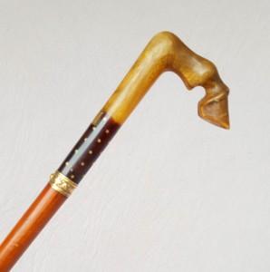 Canne épée jambe de cheval en corne (1)