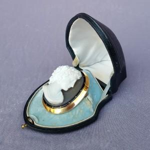 Broche Camée monté or, XIXe siècle (2)