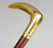 Canne poignée or, fût amourette, XIXe siècle (1)
