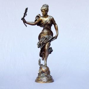Adrien Etienne Gaudez (1845-1902), Bronze «Paix et abondance» (1)