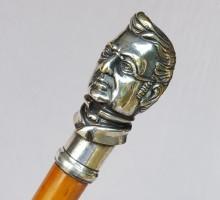 Canne casse tête bronze argenté A Thiers (1)