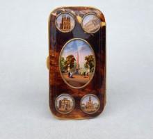 Fixé sous verre, monuments de Paris, étui à cigares, 1850 (1)