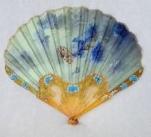 Eventail Billotey bleuets et papillon (1)