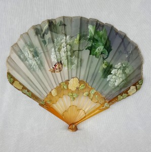 Eventail Billotey hortensias et papillon (1)