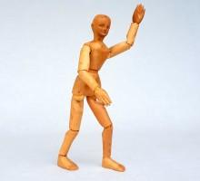 Mannequin d'artiste bois sculpté vers 1950 (1)