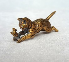 Bronze de Vienne, chat et souris (2)