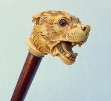 Canne chien en ivoire (1)