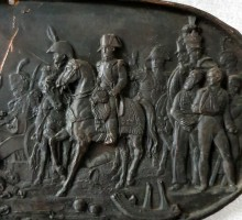 Napoléon, Plaque cuivre repoussé, commémoration de la victoire d'Austerlitz (3)