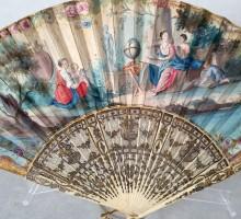 Éventail XVIIIe Allégorie des Art et des Sciences (1)