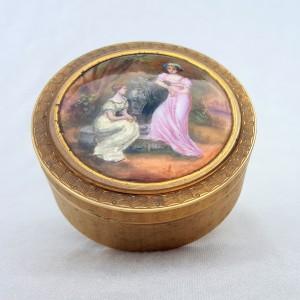 Boite émaillée signée, fin du XIXe siècle (4)