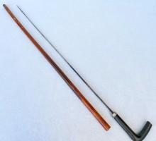 Canne épée lame bleuie pommeau corne (1)