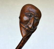 Canne Art Populaire homme masqué (1)