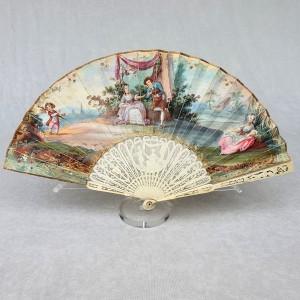 Eventail fillette 18e siècle, epoque Louis XVI (1)