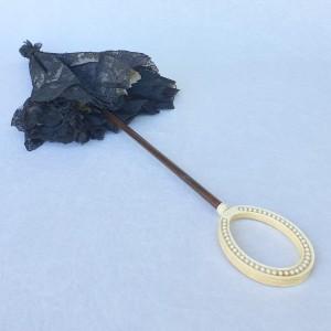 Ombrelle 1880, dentelle, soie, ivoire (3)